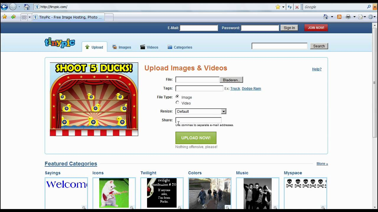 Top Ten Best TinyPic Alternative For Image Publishing