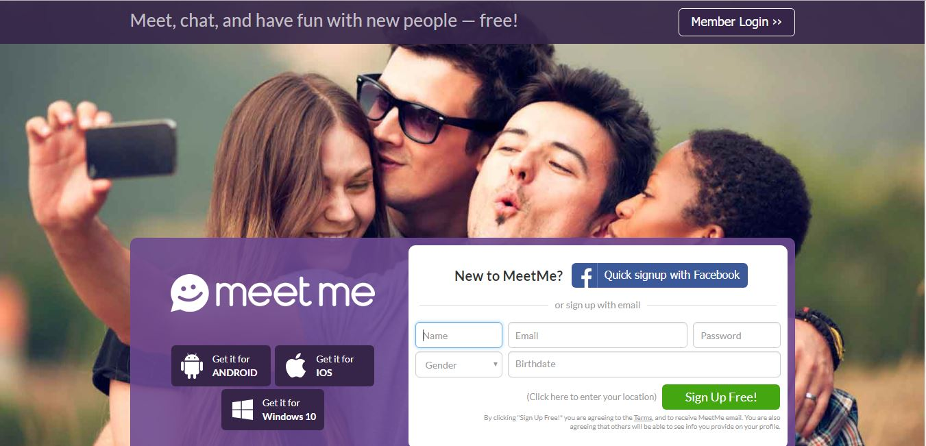 list of free dating site like meetme
