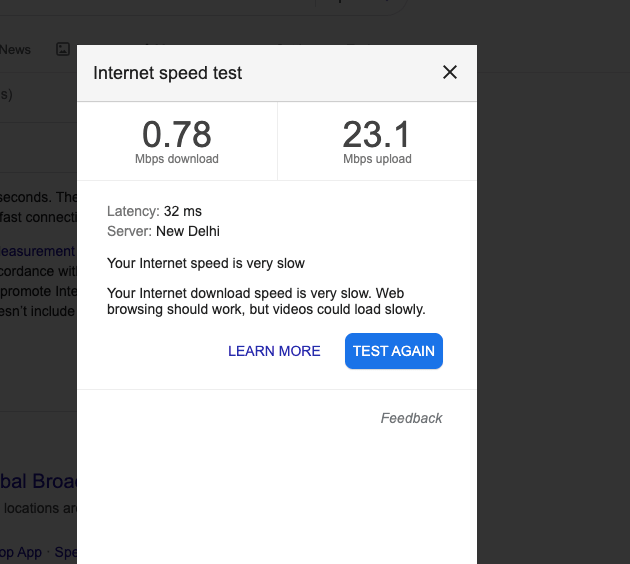 Your Internet Current Speed can cause buffering