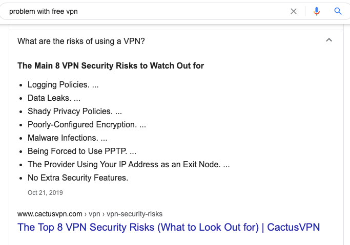 Why Free VPN Are Not Good?
